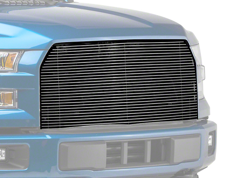 E&G Billet Style Upper Replacement Grille - Polished (15-17 All, Excluding Raptor)
