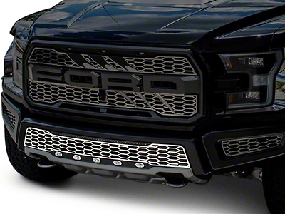 ACC Lower Bumper Replacement Grille w/ Lights - Brushed (17-18 F-150 Raptor)
