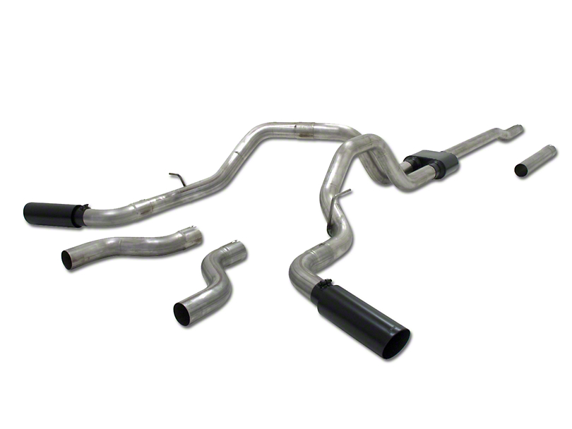 Flowmaster Outlaw Dual Exhaust System - Side/Rear Exit (04-08 4.6L F-150)