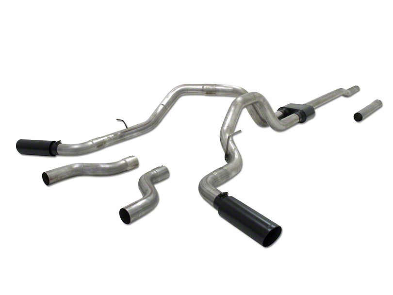 Flowmaster Outlaw Dual Exhaust System - Side/Rear Exit (04-08 5.4L F-150)