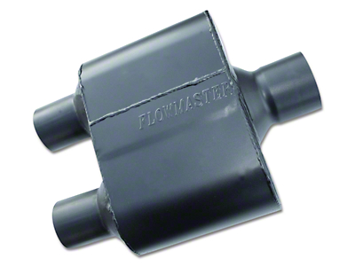 Flowmaster Super 10 Series Center/Dual Out Oval Muffler - 3.0 in. / 2.5 in. (Universal Fitment)