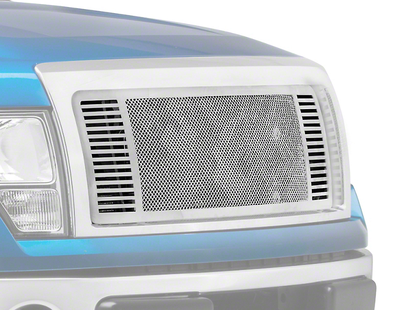 E&G Fine Mesh Upper Grille Insert w/ Q Side Bars - Chrome (09-14 All, Excluding Raptor)