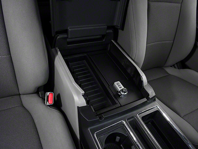 Ford Raptor Inside >> F-150 Center Console Lock Vault (15-19 F-150 w/ Flow-Through Center Console)