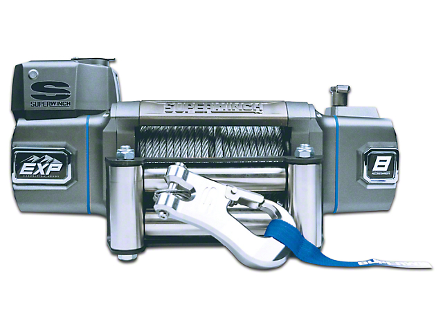 Superwinch EXP Series 8,000 lb. Winch w/ Synthetic Rope & Remote Mount Solenoid Box