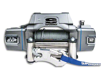 Superwinch EXP Series 12,000 lb. Winch w/ Wire Rope & Center Mount Solenoid Box