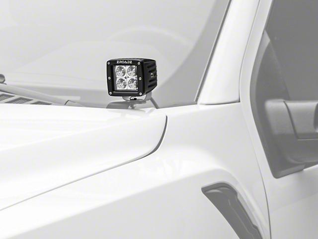 ZRoadz Dual 3 in. LED Light Pods w/ Hood Hinge Mounting Brackets (17-18 Raptor)