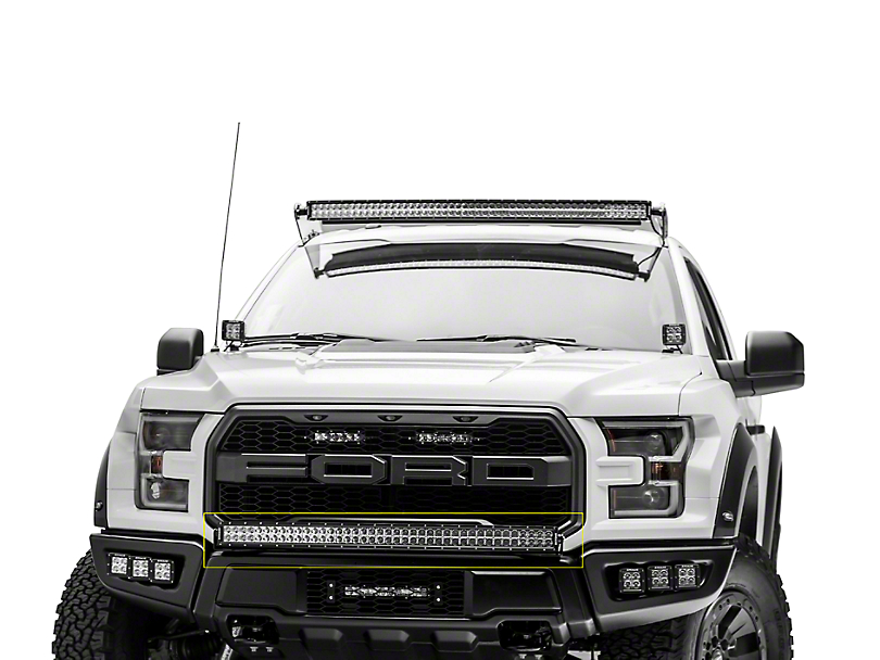 ZRoadz 40 in. Curved LED Light Bar Bumper Mounting Brackets (17-19 F-150 Raptor)