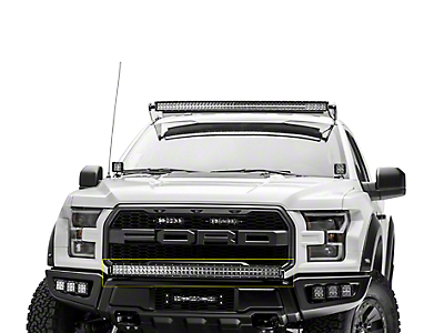 ZRoadz Front Bumper 40 in. Curved LED Light Bar Mounting Brackets (17-18 Raptor)