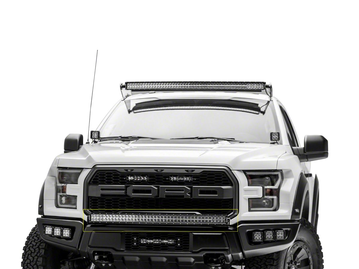 Zroadz 40 In Curved Led Light Bar Bumper Mounting Brackets 17 20 F 150 Raptor