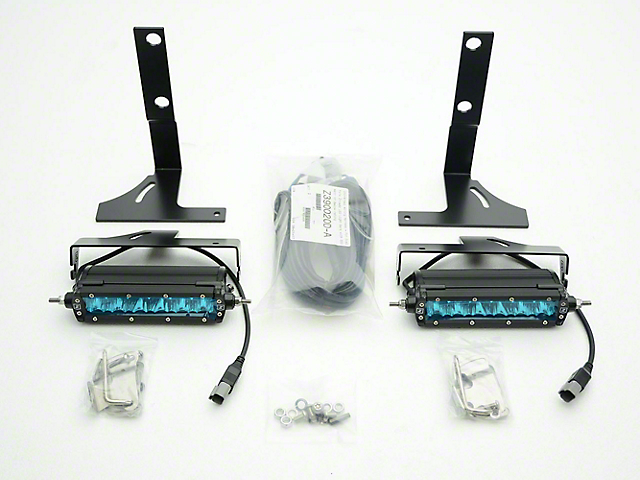 ZRoadz Rear Bumper 6 in. LED Light Bar Mounting Brackets (17-18 Raptor)