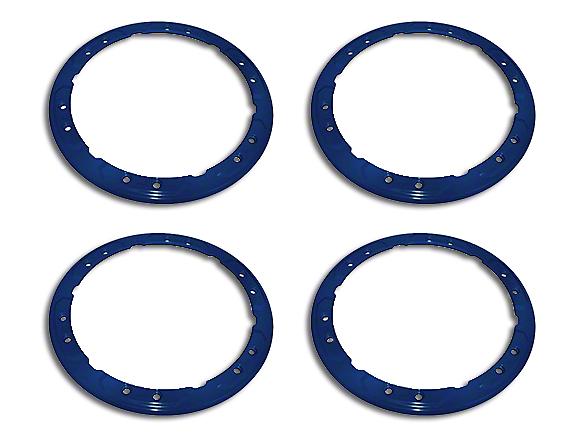 Ford Performance Bead Lock Wheel Trim Ring Set - Blue (17-18 F-150 Raptor)