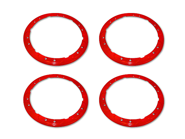 Ford Performance Bead Lock Wheel Trim Ring Set - Red (17-18 F-150 Raptor)