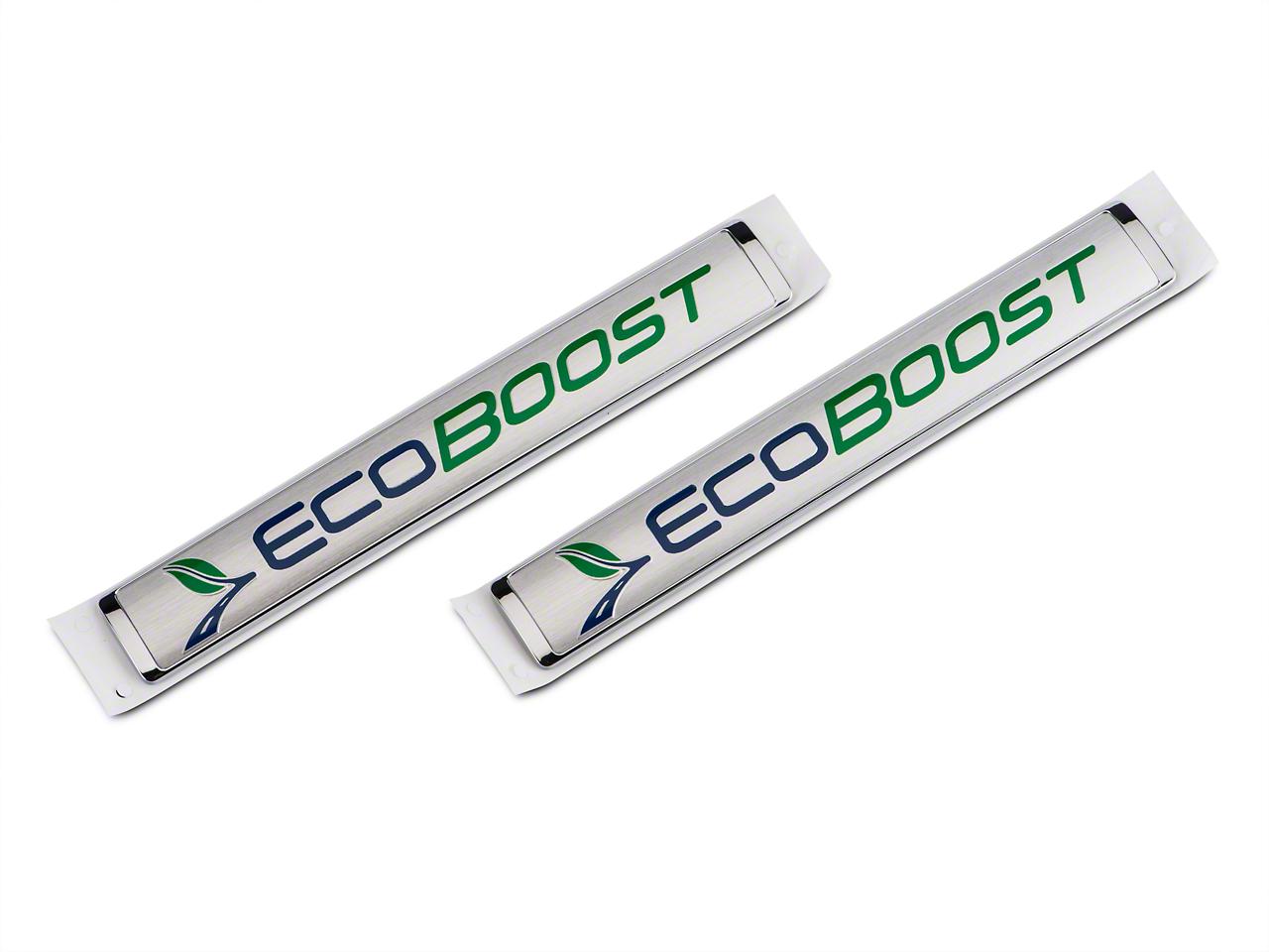 Ford Performance Large Size EcoBoost Emblem - Silver (11-18 2.7L/3.5L EcoBoost F-150)
