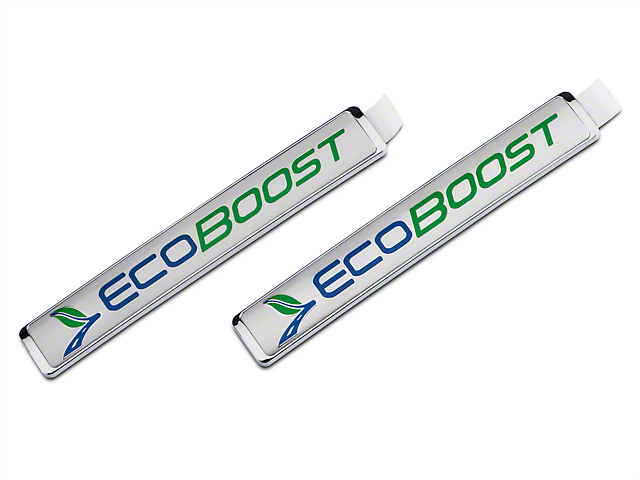 Ford Performance Medium Size EcoBoost Emblem - Silver (11-18 2.7L/3.5L EcoBoost F-150)