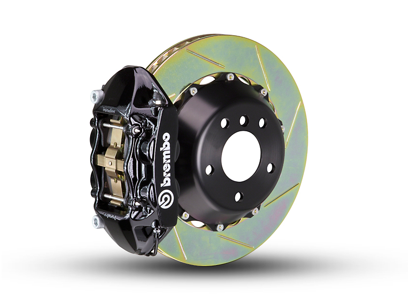 Brembo GT Series 4-Piston Rear Brake Kit - 2-Piece Slotted Rotors - Black (15-18 F-150, Excluding Raptor)