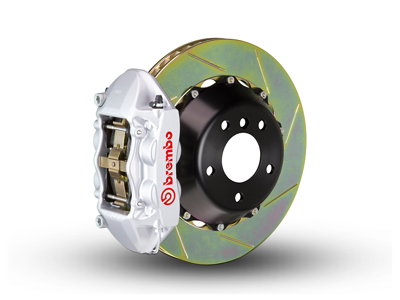 Brembo GT Series 4-Piston Rear Brake Kit - 2-Piece Slotted Rotors - Silver (15-18 All, Excluding Raptor)