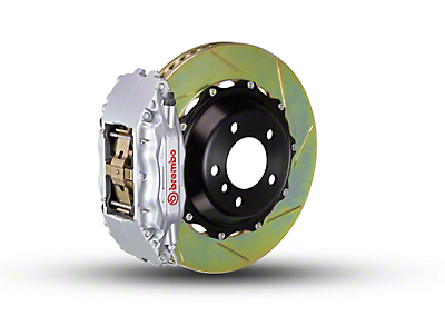 Brembo GT Series 4-Piston Front Brake Kit - 2-Piece Slotted Rotors - Silver (97-03 4WD)