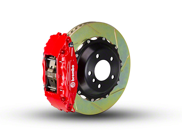 Brembo GT Series 4-Piston Front Brake Kit - 2-Piece Slotted Rotors - Red (00-03 2WD)