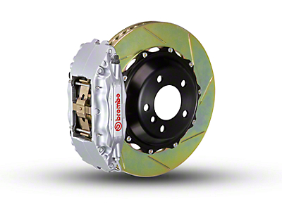 Brembo GT Series 4-Piston Front Brake Kit - 2-Piece Slotted Rotors - Silver (00-03 2WD)