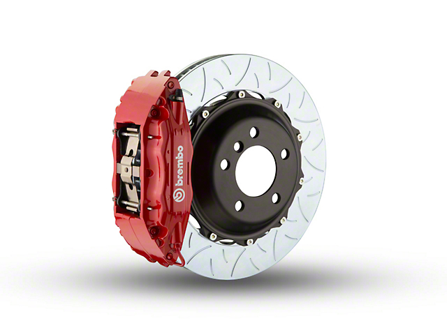 Brembo GT Series 4-Piston Front Brake Kit - Type 3 Slotted Rotors - Red (97-03 4WD F-150)