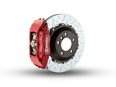Brembo GT Series 4-Piston Front Brake Kit - Type 3 Slotted Rotors - Red (97-03 4WD)
