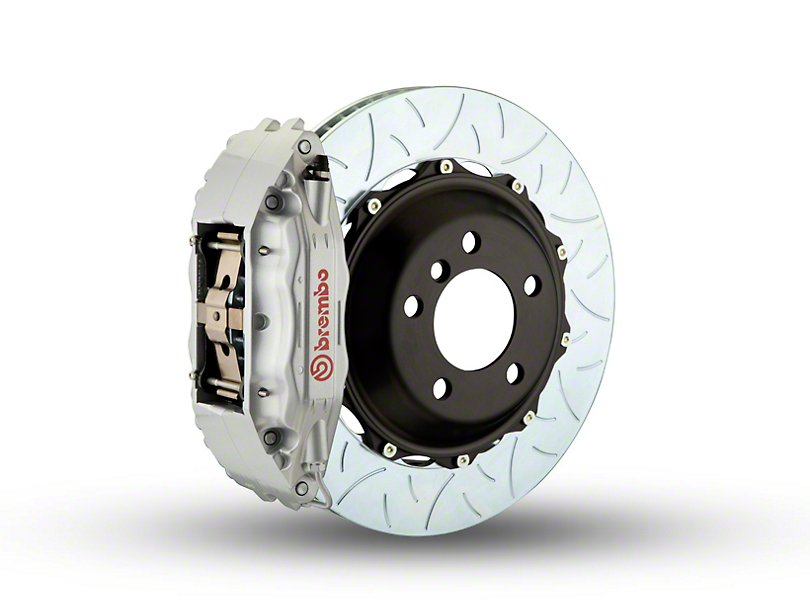 Brembo GT Series 4-Piston Front Brake Kit - Type 3Slotted Rotors - Silver (97-03 4WD)