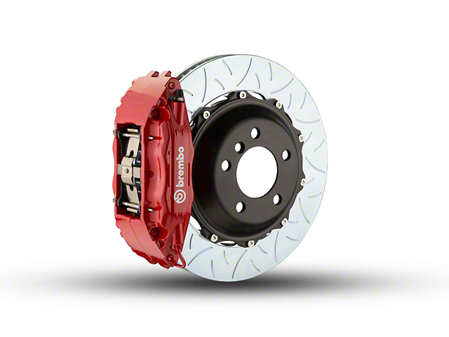 Brembo GT Series 4-Piston Front Brake Kit - Type 3 Slotted Rotors - Red (00-03 2WD)