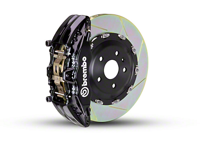 Brembo GT Series 6-Piston Front Brake Kit - 2-Piece Slotted Rotors - Black (09-14 2WD)