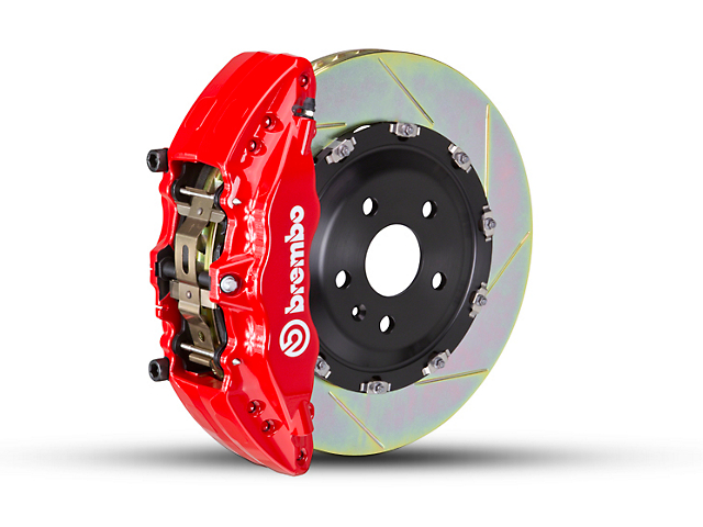 Brembo GT Series 6-Piston Front Brake Kit - 2-Piece Slotted Rotors - Red (09-14 2WD)