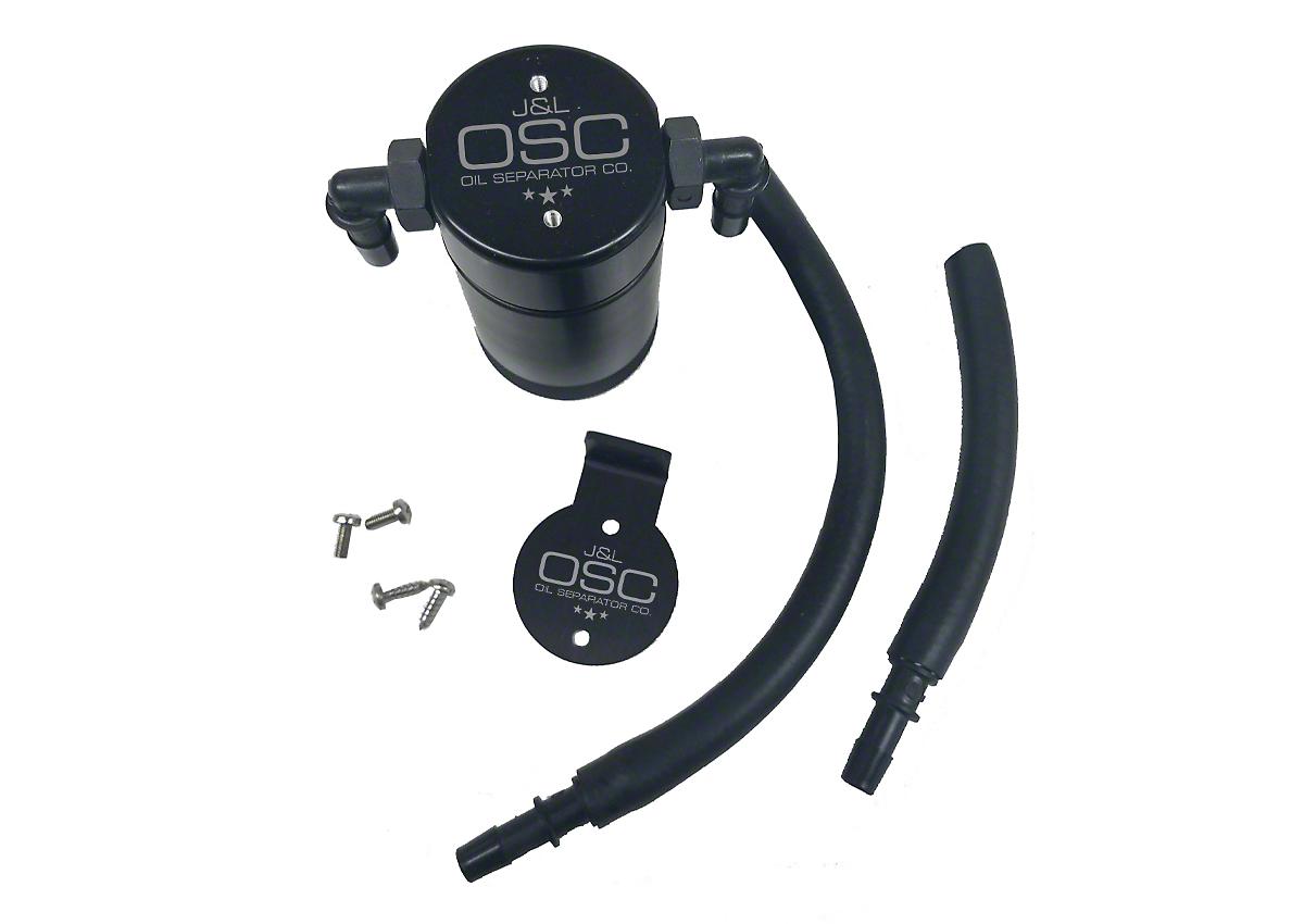 JLT V3.0 Black Oil Separator - Passenger Side (99-03 F-150 Lightning; 02-03 F-150 Harley Davidson)