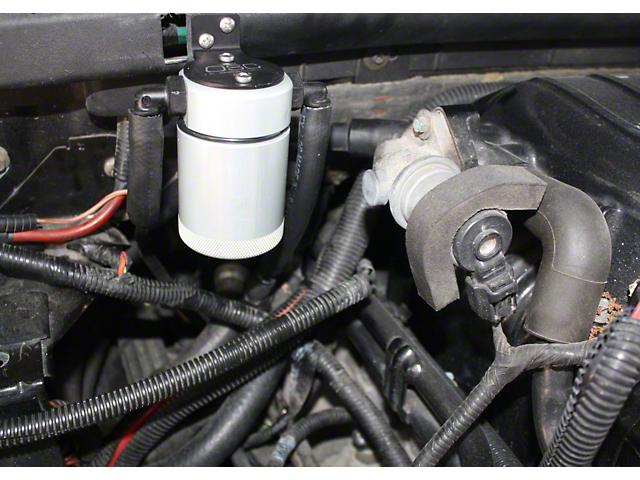 JLT V3.0 Satin Oil Separator - Passenger Side (99-03 Lightning; 02-03 Harley Davidson)