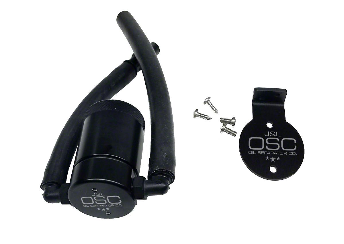 JLT V3.0 Black Oil Separator - Driver Side (99-03 F-150 Lightning; 02-03 F-150 Harley Davidson)