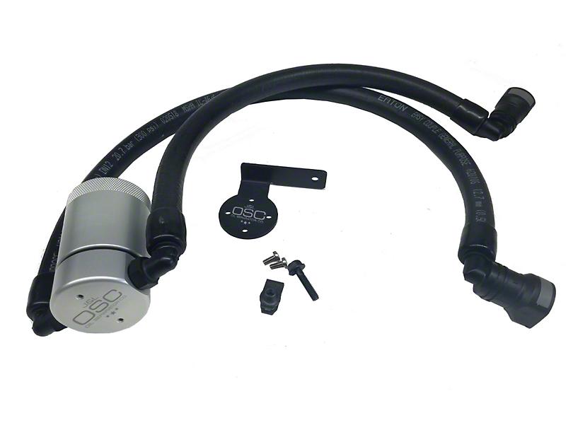 JLT V3.0 Satin Oil Separator - Driver Side (10-14 6.2L F-150 Raptor; 11-18 5.0L)