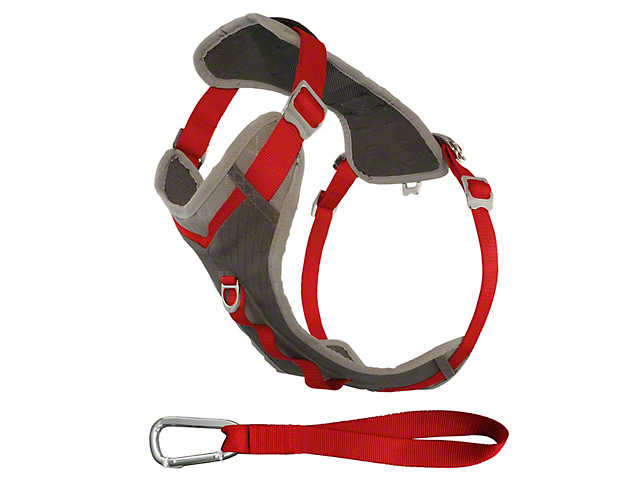 Kurgo Journey Dog Harness - Chili Red/Charcoal (97-18 All)