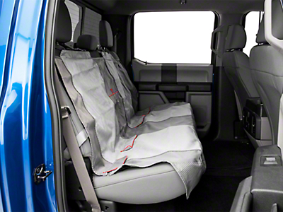 Kurgo Journey Rear Bench Seat Cover - Charcoal/Chili Red (97-18 SuperCab, SuperCrew)