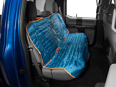 Kurgo Loft Rear Bench Seat Cover - Coastal Blue/Charcoal (97-18 SuperCab, SuperCrew)