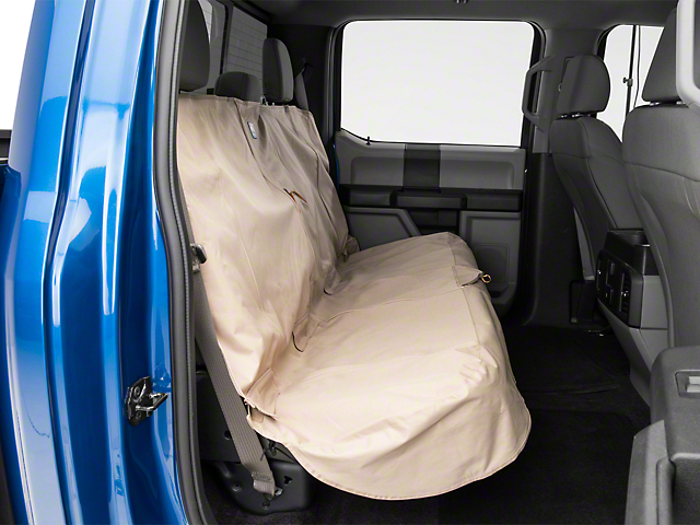 Kurgo Extended Width Wander Rear Bench Seat Cover - Hampton Sand - 63 in. wide (97-18 SuperCab, SuperCrew)