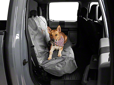Kurgo Extended Width Wander Rear Bench Seat Cover - Charcoal - 63 in. wide (97-18 SuperCab, SuperCrew)