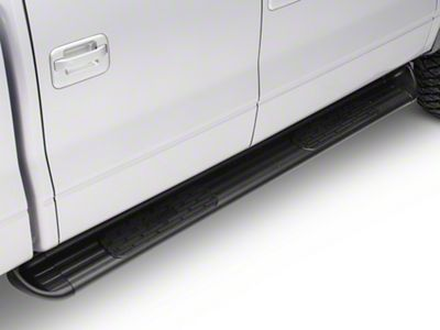 Raptor Series 0703-0370B 4 inch Oval Black Side Bar Steps For 09-14 Ford F-150 SuperCrew Cab Including Ford Raptor
