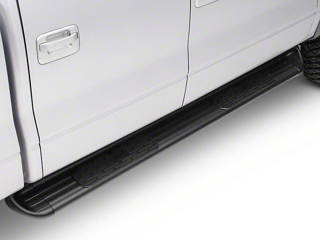 Raptor Series 7 in. SSR Stainless Steel Running Boards - Textured Black (04-14 F-150)