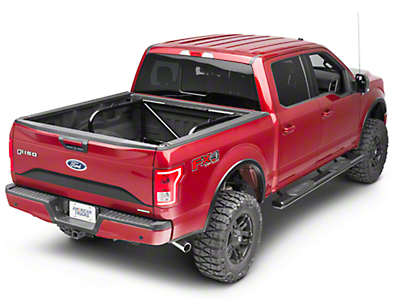 N-Fab Bed Mounted Tire Carrier for 2 Tires - Gloss Black (17-18 Raptor SuperCrew)