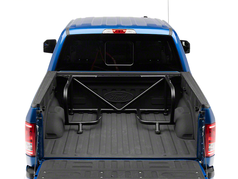 N-Fab Bed Mounted Tire Carrier for 2 Tires - Textured Black (17-18 F-150 Raptor SuperCrew)