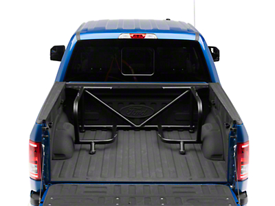 N-Fab Bed Mounted Tire Carrier for 2 Tires - Textured Black (15-18 F-150 w/ 5.5 ft. Bed)