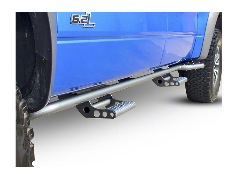 N-Fab Cab Length RKR Side Rails w/ Detachable Steps - Textured Black (10-14 Raptor SuperCrew)