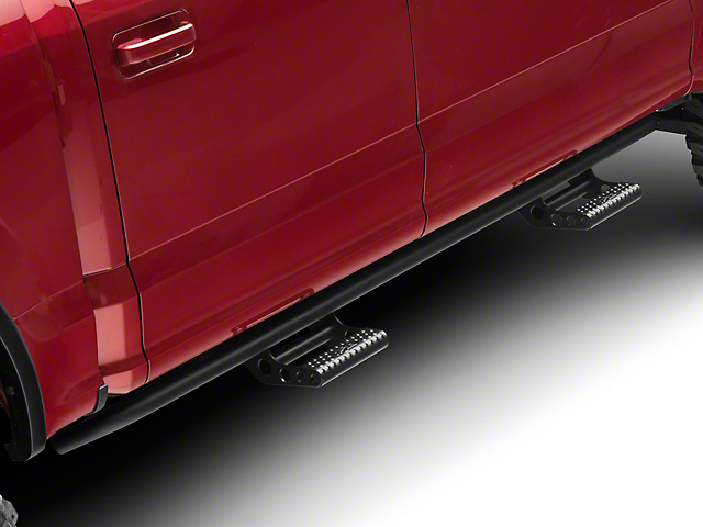 N-Fab Cab Length RKR Side Rails w/ Detachable Steps - Textured Black (15-18 SuperCrew, Excluding Raptor)