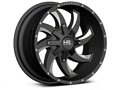 Hardrock Offroad H700 AFFLICTION Black Milled 6-Lug Wheel - 20x10 (04-18 All)
