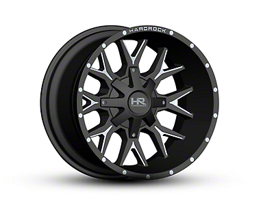 Hardrock Offroad H700 AFFLICTION Black Milled 6-Lug Wheel - 20x12 (04-18 All)