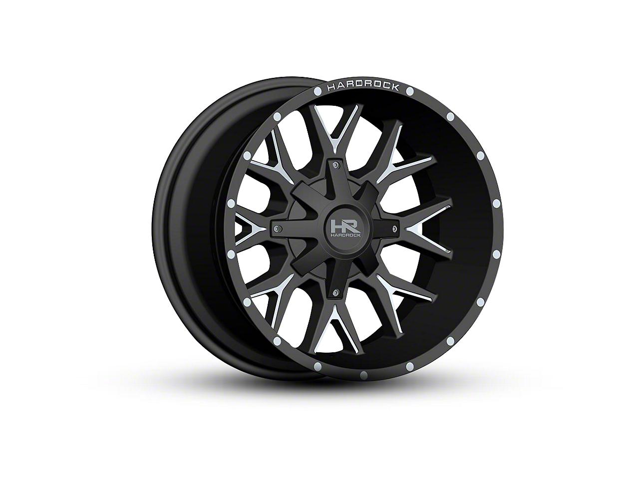 Hardrock Offroad H700 AFFLICTION Black Milled 6-Lug Wheel - 22x10 (04-18 F-150)