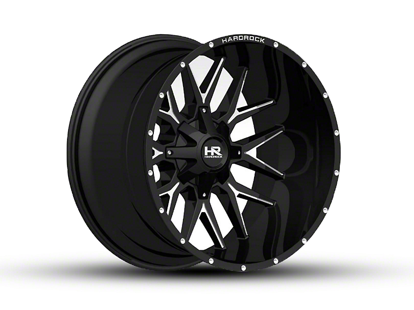 Hardrock Offroad H700 AFFLICTION Black Milled 6-Lug Wheel - 24x14 (04-18 All)