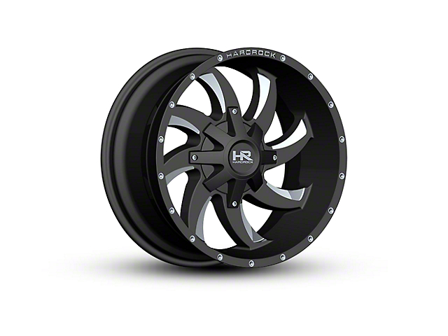 Hardrock Offroad H701 DEVIOUS Black Milled 6-Lug Wheel - 20x10 (04-18 F-150)